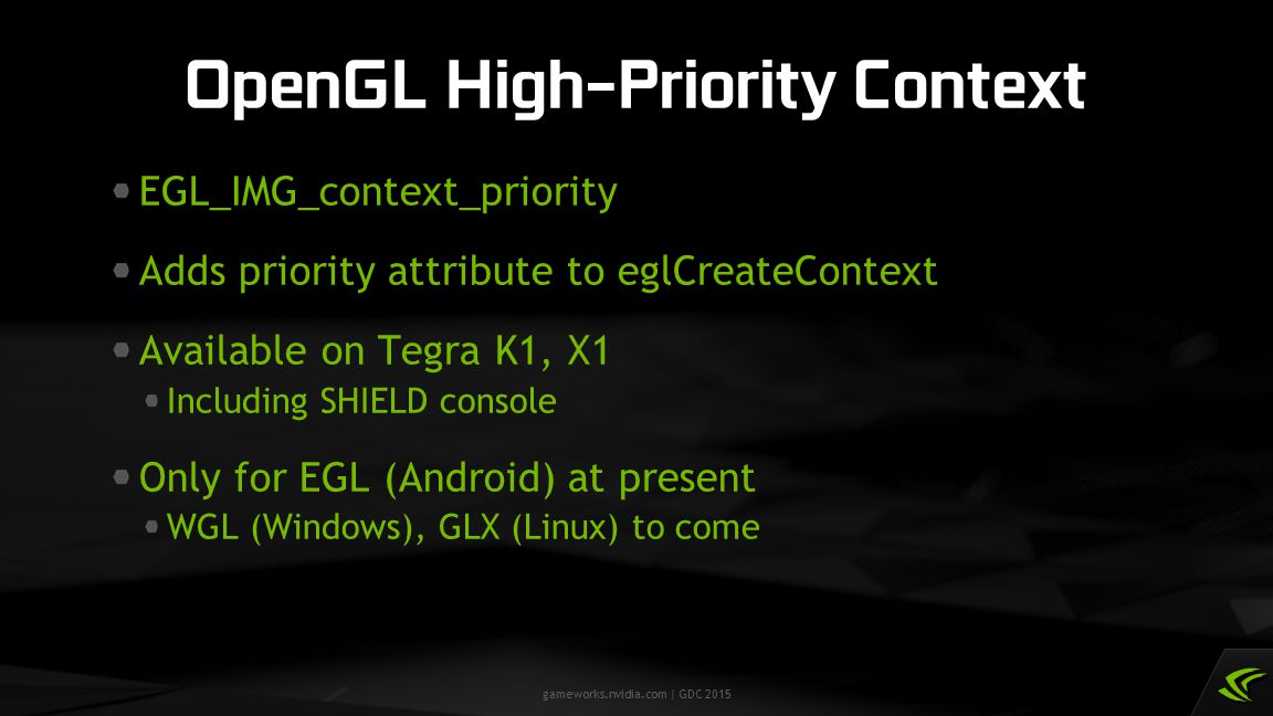 OpenGL High-Priority Context