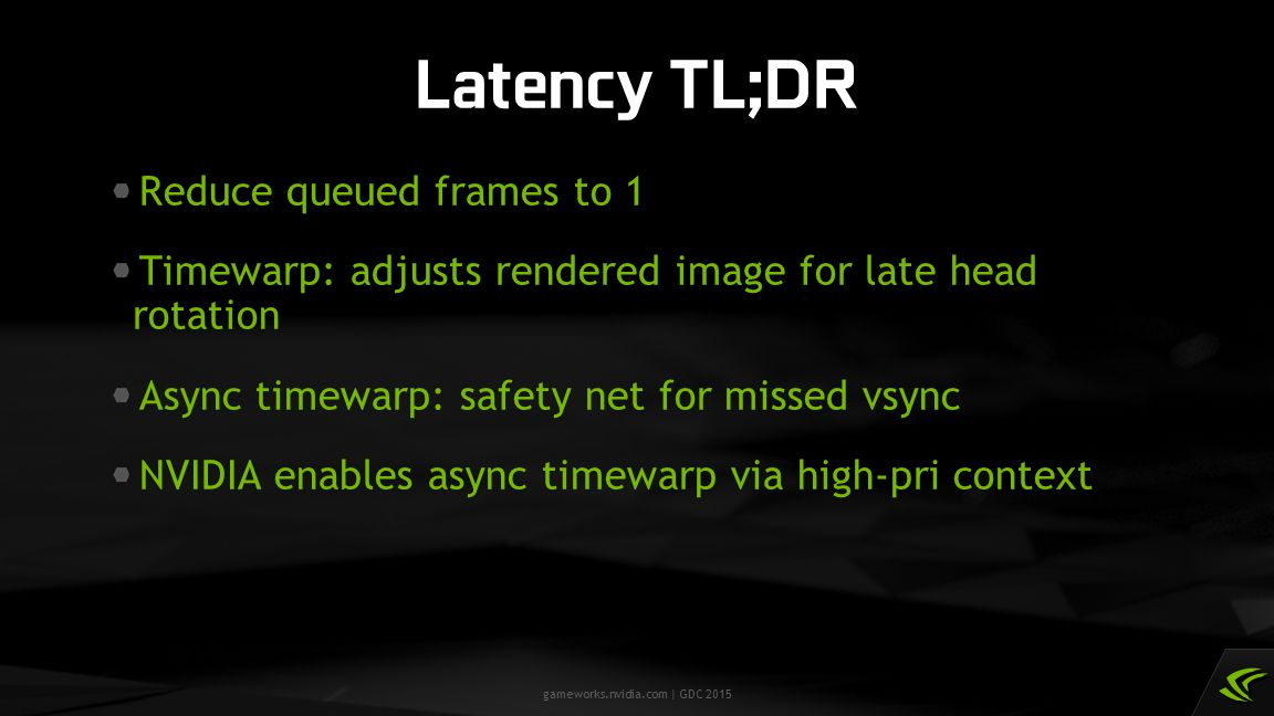 Latency TL;DR Reduce queued frames to 1