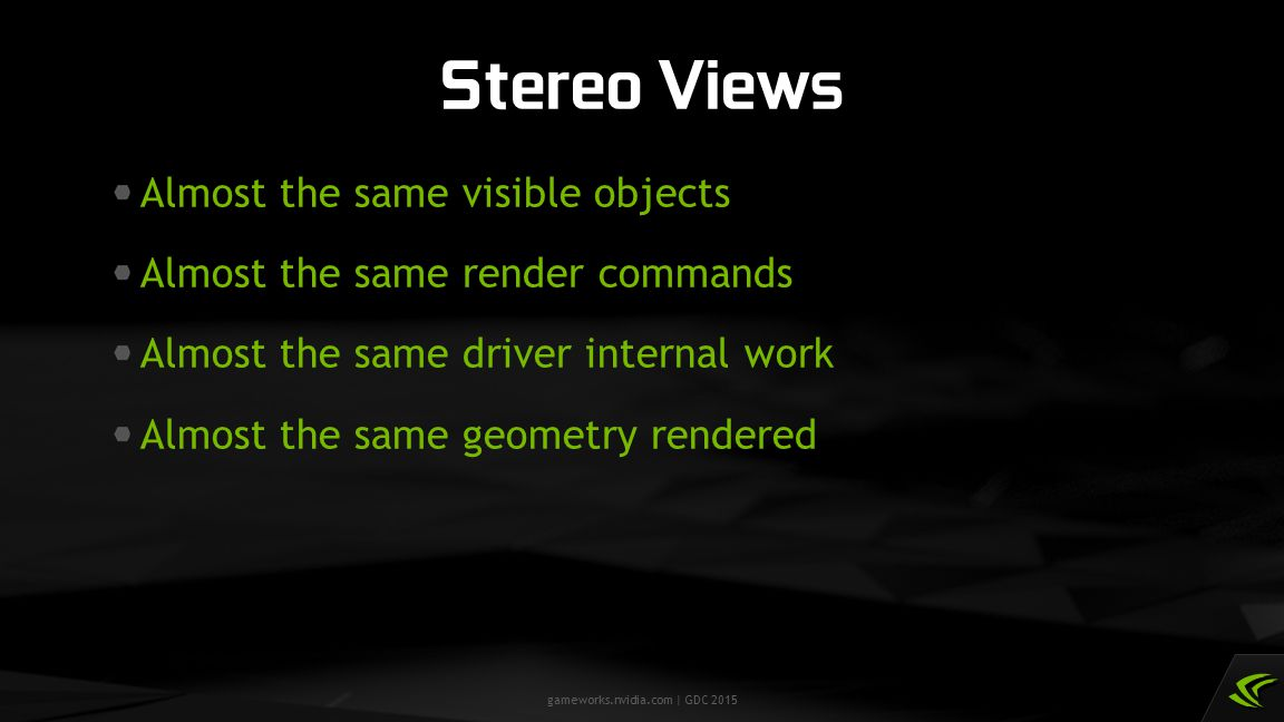 Stereo Views Almost the same visible objects