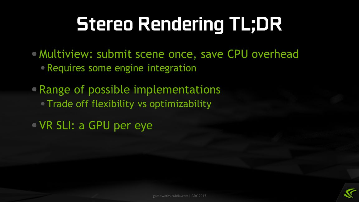 Stereo Rendering TL;DR