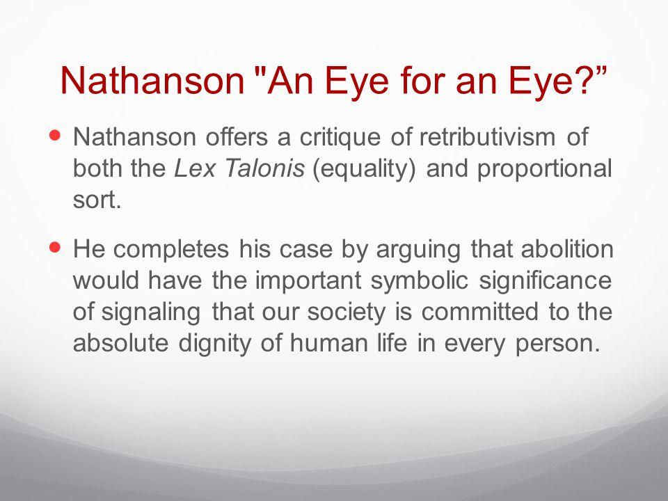 Nathanson An Eye for an Eye