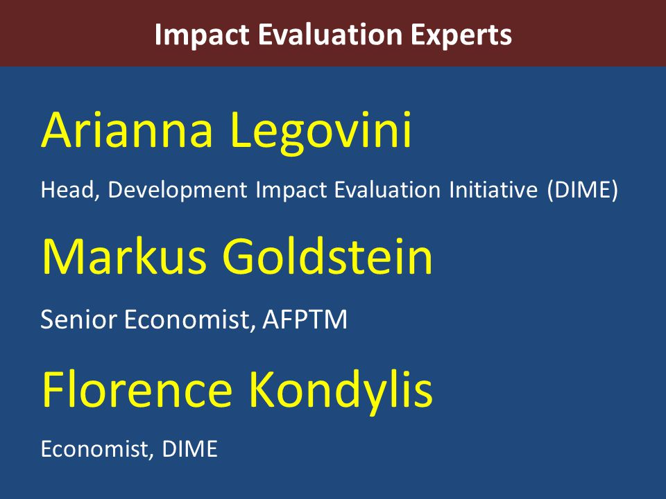 Impact Evaluation Experts