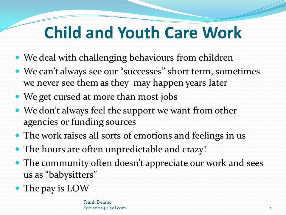 Child and Youth Care Work