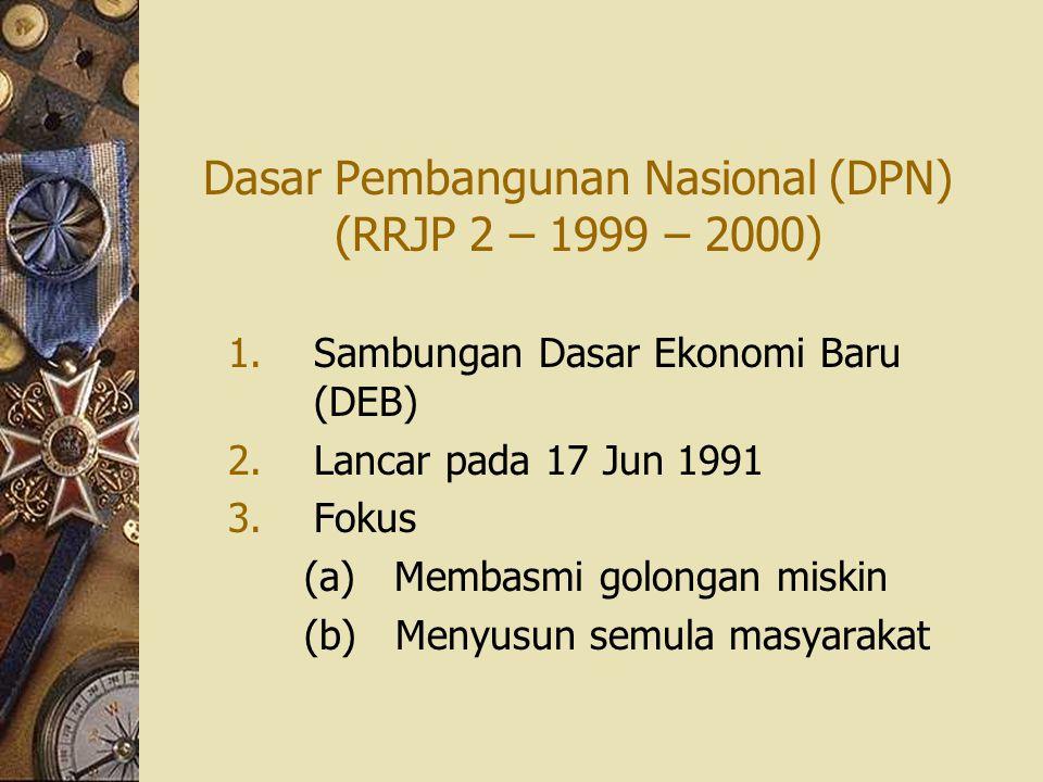 Dasar Pembangunan Nasional (DPN) (RRJP 2 – 1999 – 2000)