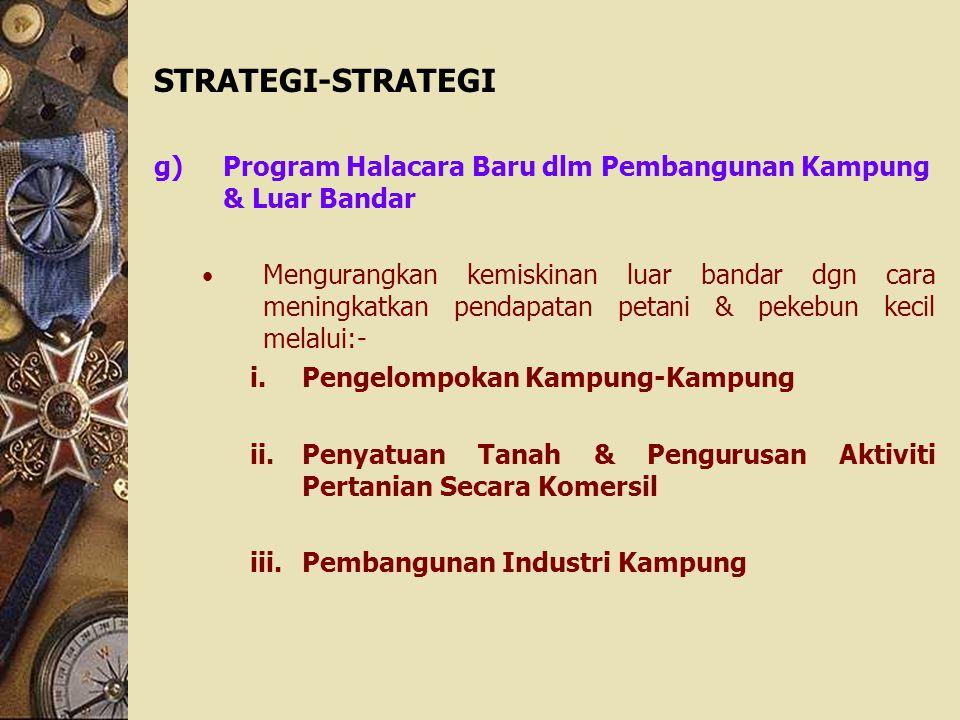 STRATEGI-STRATEGI Program Halacara Baru dlm Pembangunan Kampung & Luar Bandar.