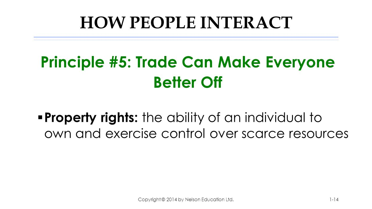 Principle #5: Trade Can Make Everyone Better Off