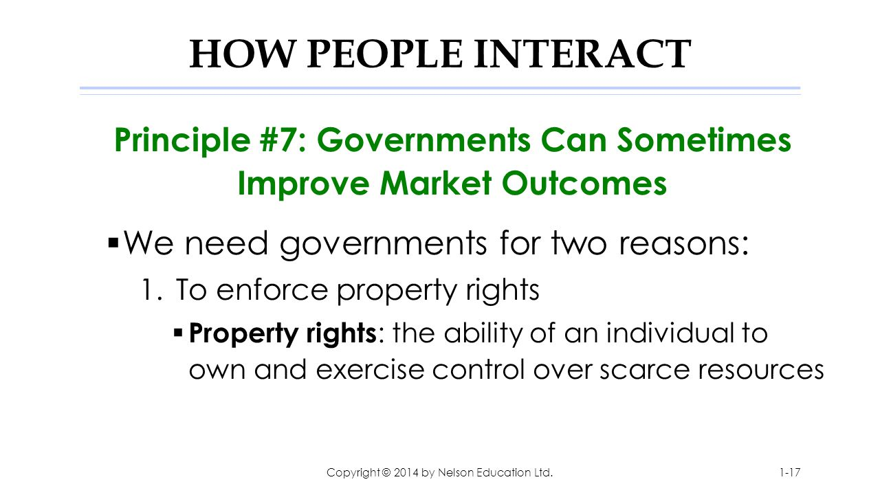 Principle #7: Governments Can Sometimes Improve Market Outcomes