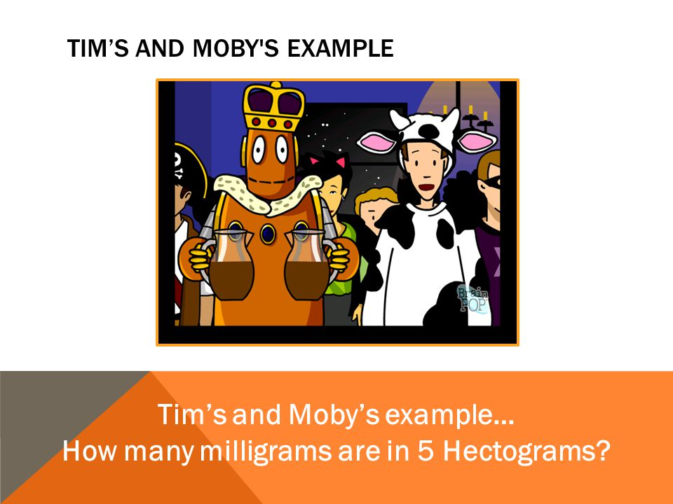Tim's and Moby s Example