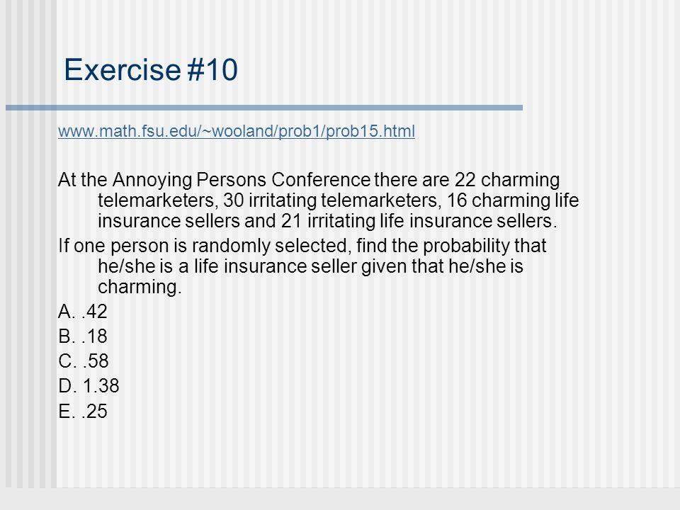 Exercise #10 www.math.fsu.edu/~wooland/prob1/prob15.html.