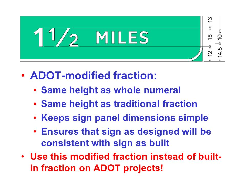 ADOT-modified fraction: