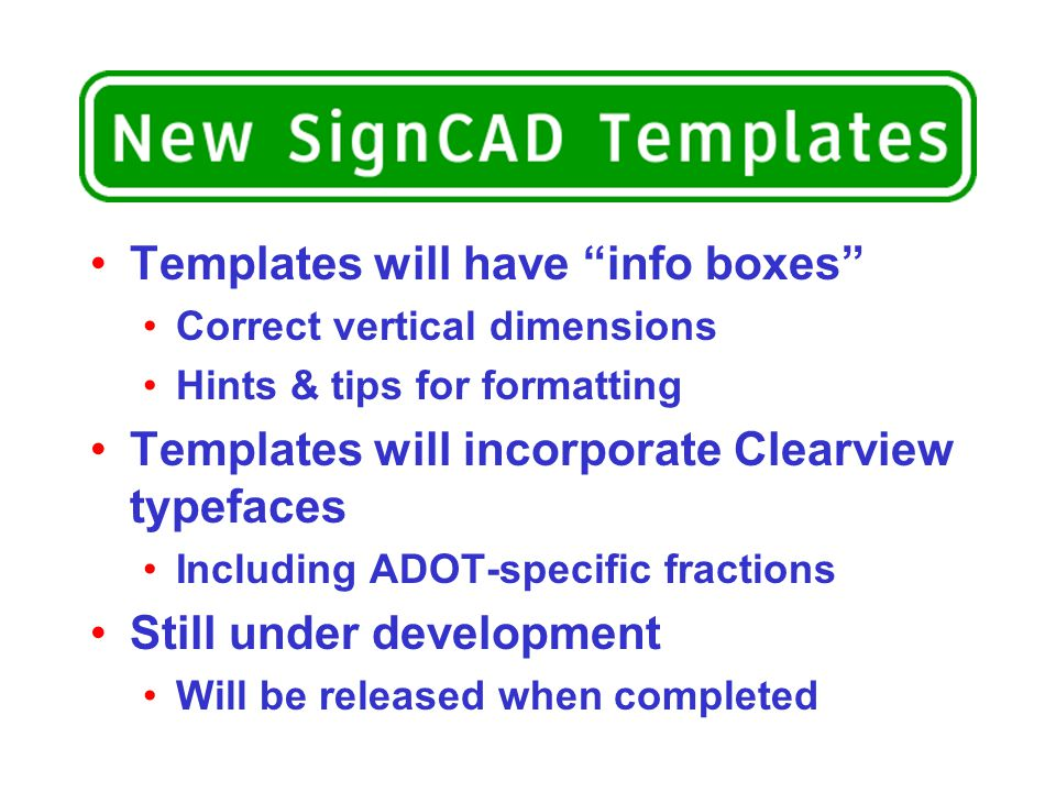 Templates will have info boxes