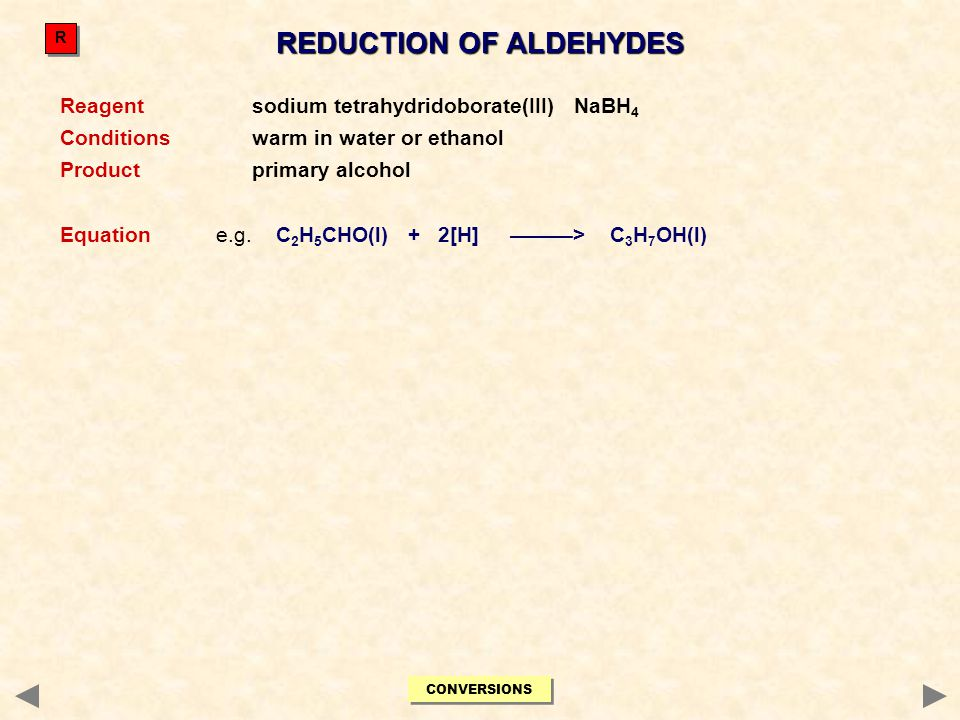 REDUCTION OF ALDEHYDES