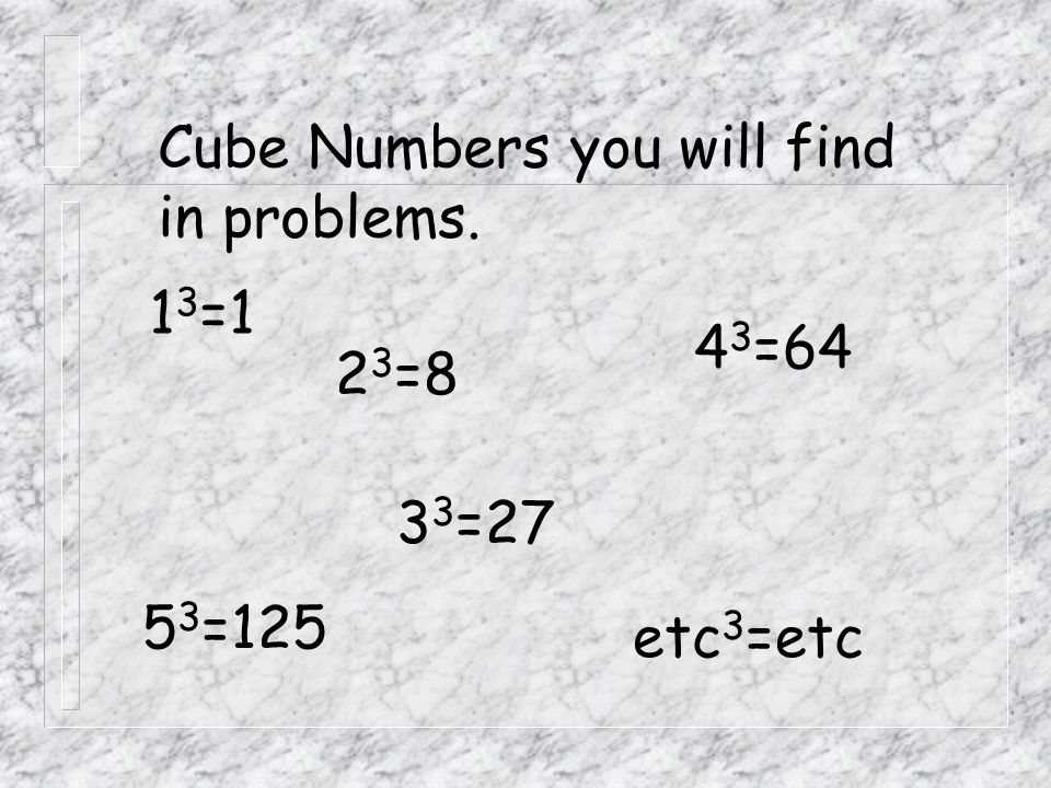 Cube Numbers you will find