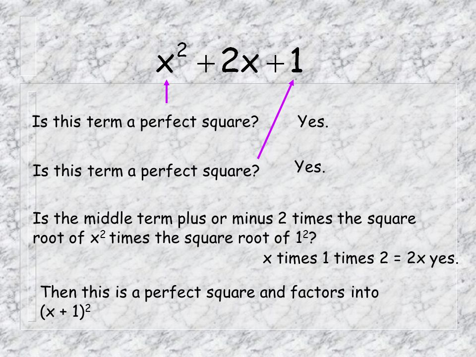 Is this term a perfect square