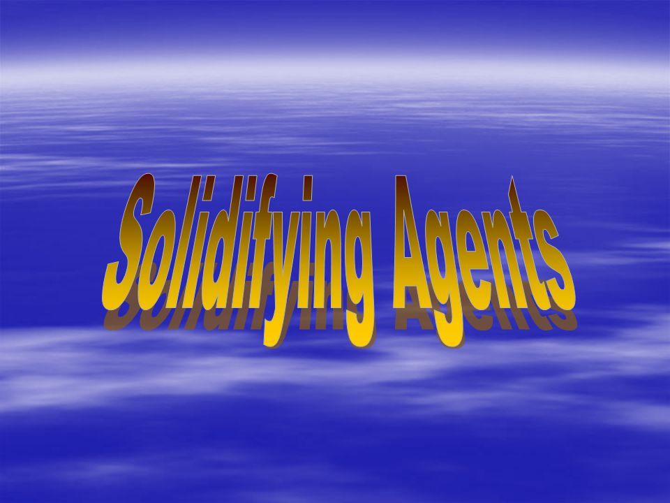 Solidifying Agents