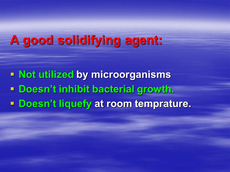 A good solidifying agent: