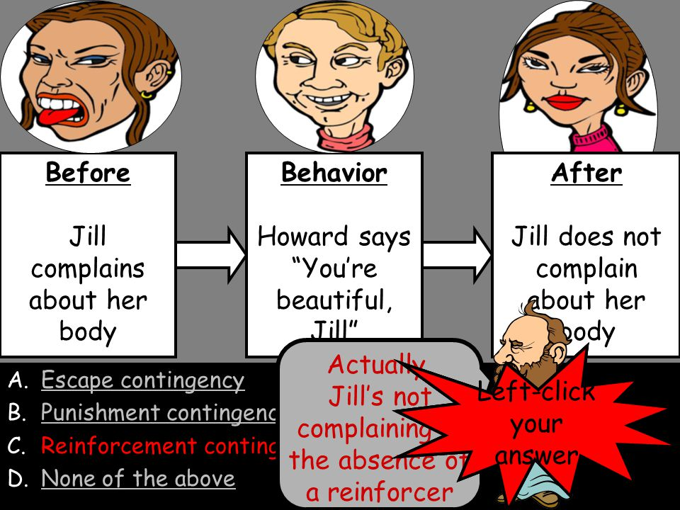 Jill complains about her body Behavior