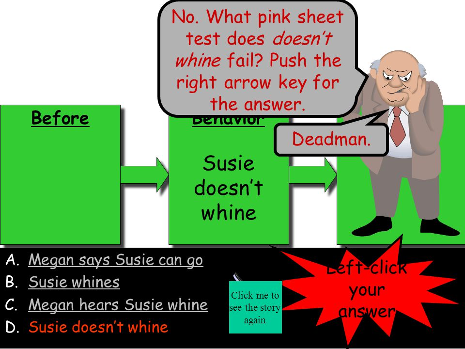 No. What pink sheet test does doesn't whine fail