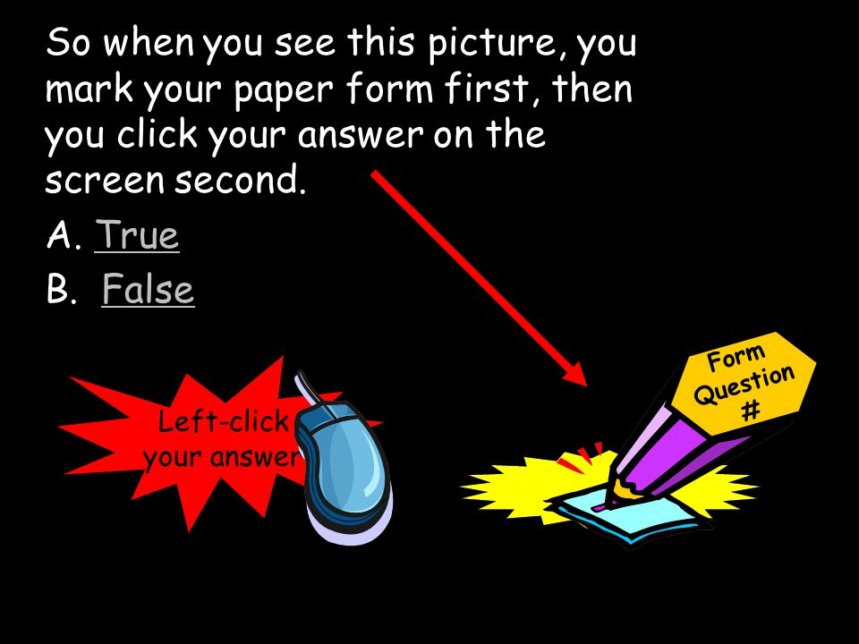 Left-click your answer