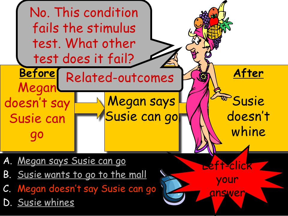 Megan doesn't say Susie can go Megan says Susie can go