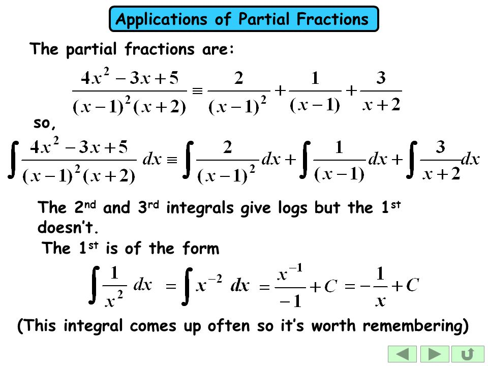 The partial fractions are:
