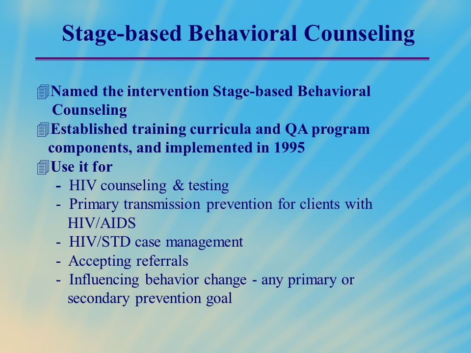 Stage-based Behavioral Counseling