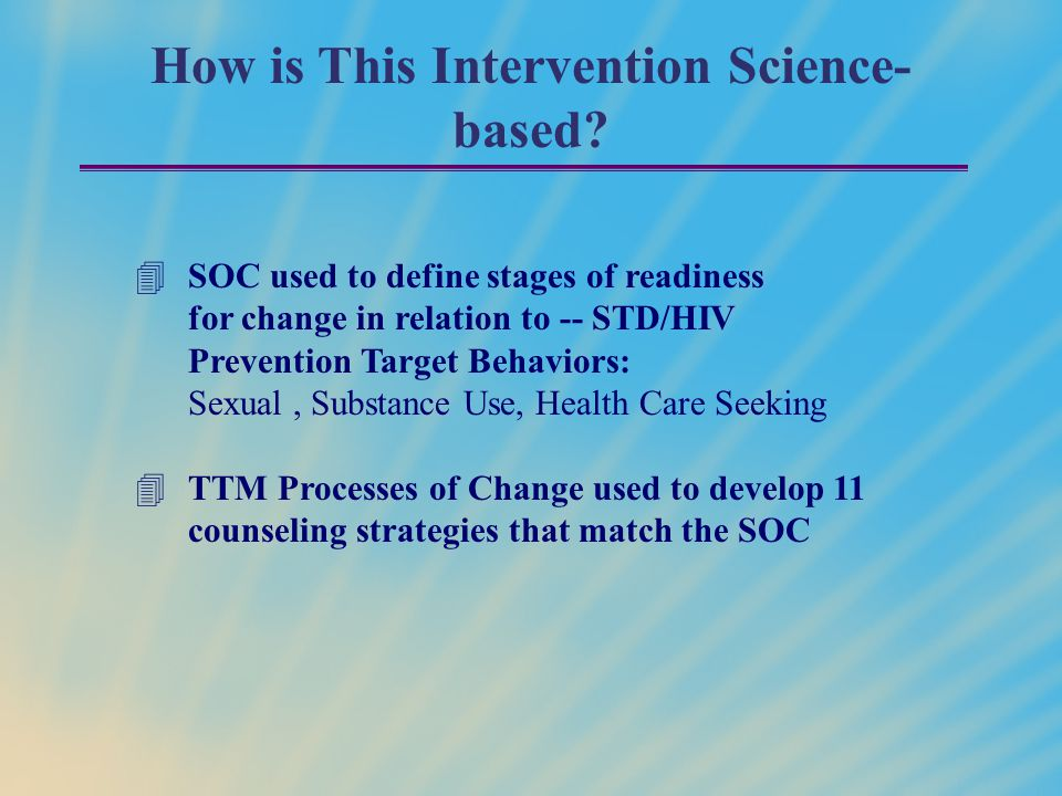 How is This Intervention Science-based