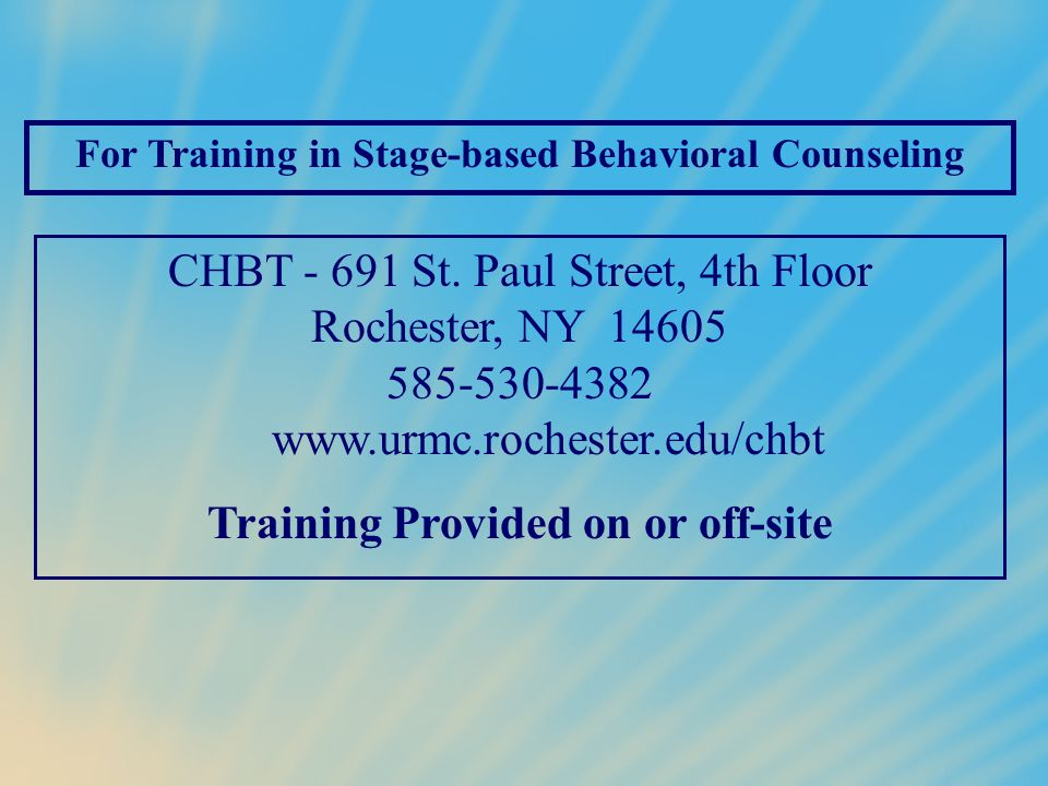 Training Provided on or off-site
