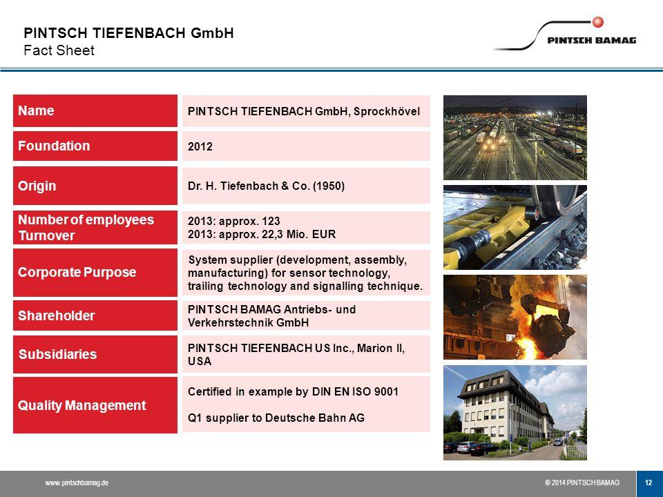 PINTSCH TIEFENBACH GmbH Fact Sheet