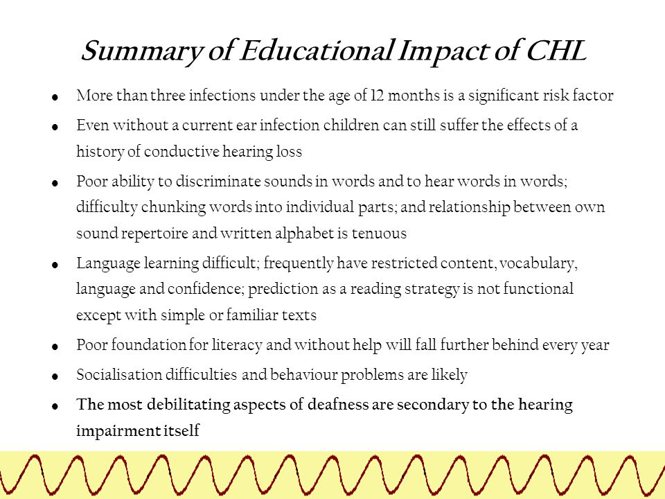 Summary of Educational Impact of CHL