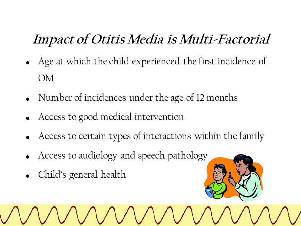 Impact of Otitis Media is Multi-Factorial