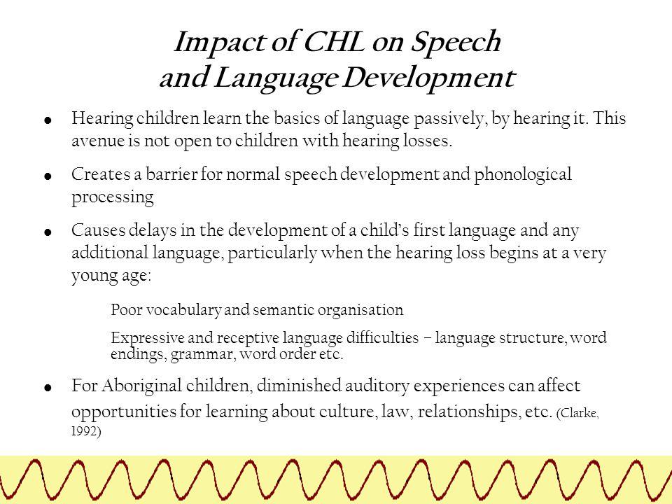 Impact of CHL on Speech and Language Development