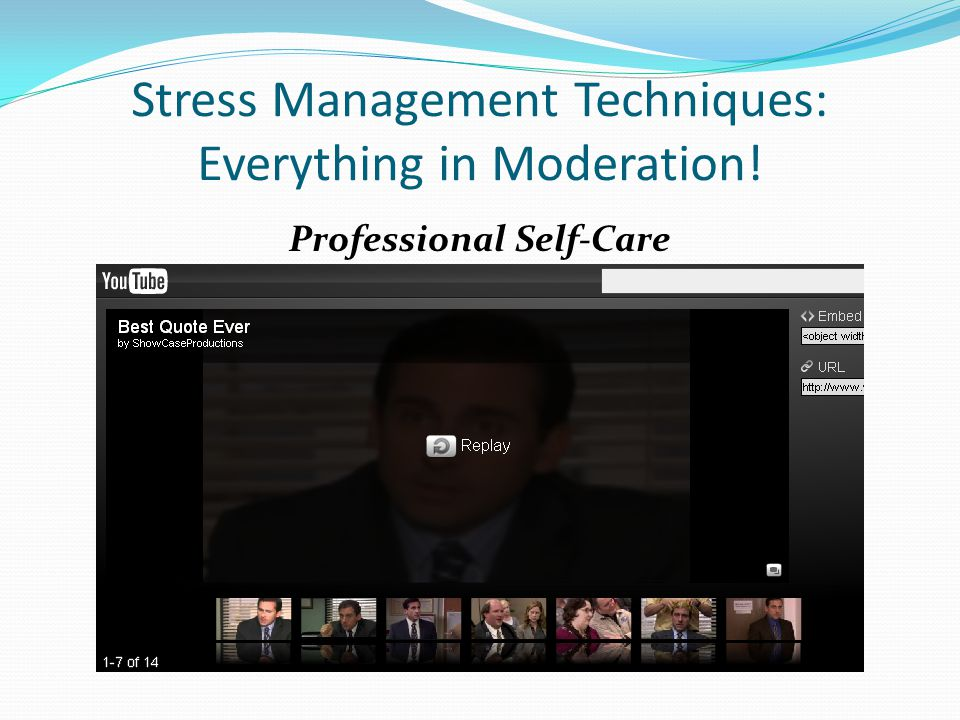 Stress Management Techniques: Everything in Moderation!