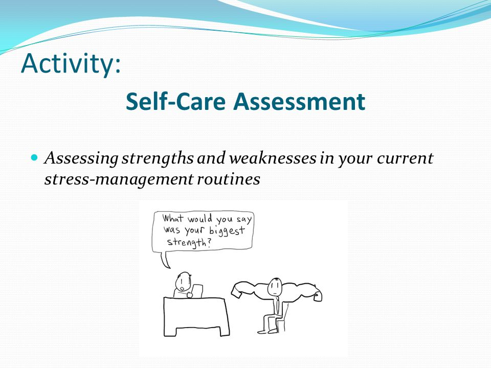 Activity: Self-Care Assessment