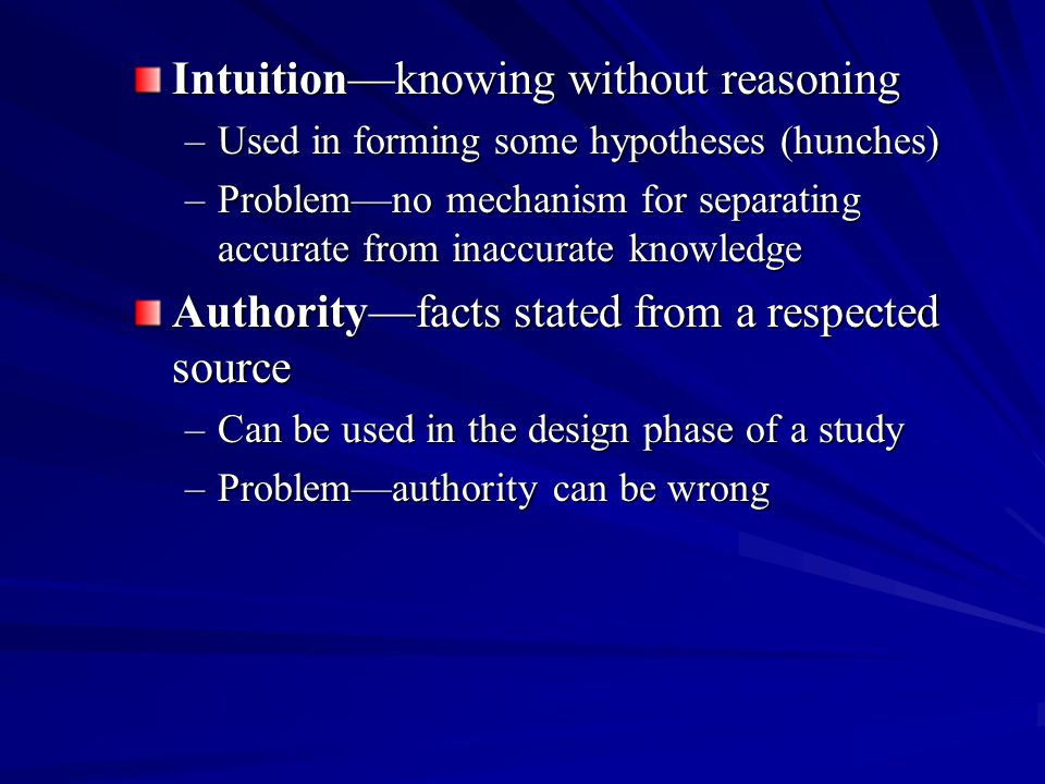 Intuition—knowing without reasoning