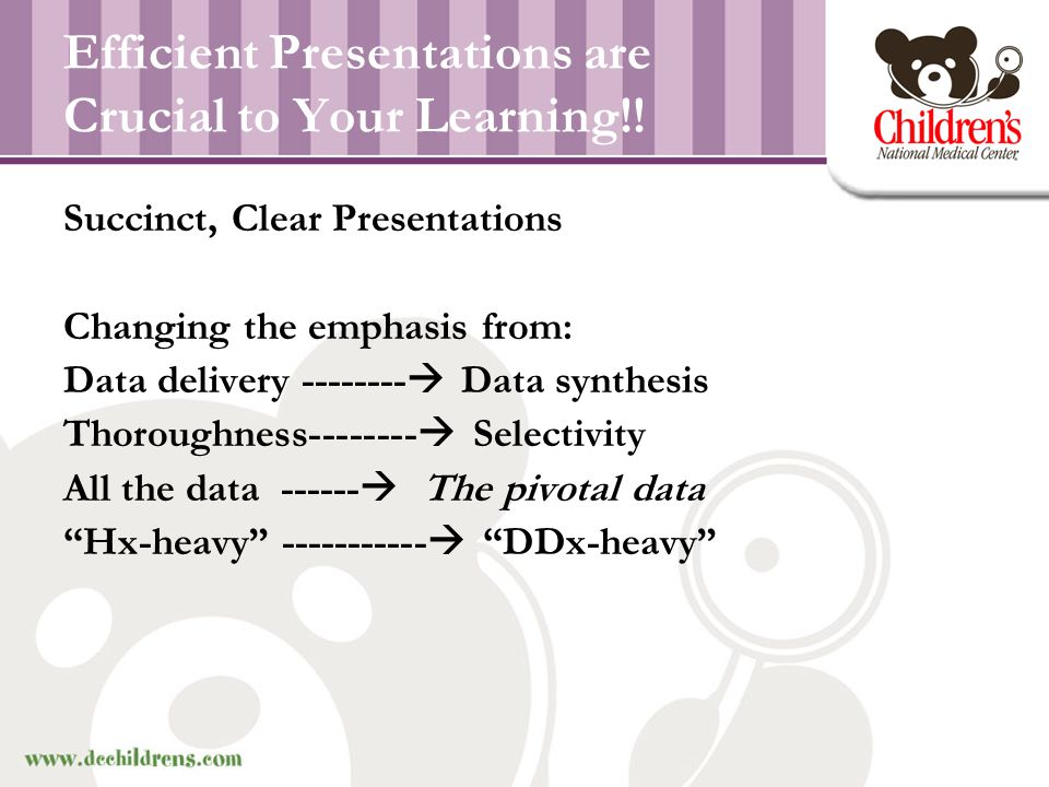 Efficient Presentations are Crucial to Your Learning!!