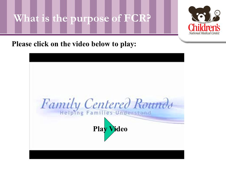 What is the purpose of FCR