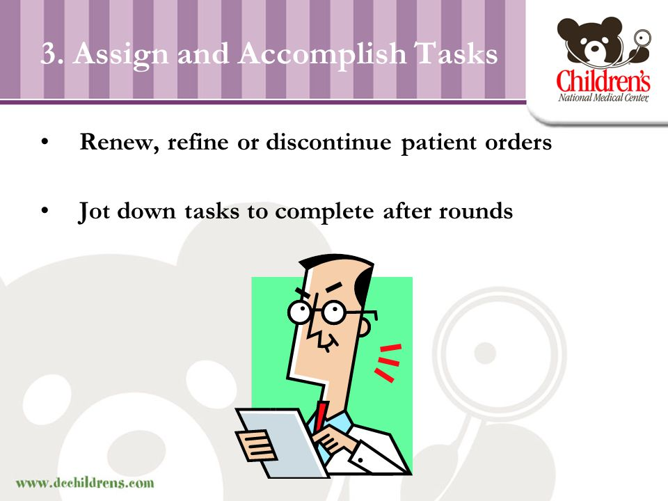 3. Assign and Accomplish Tasks