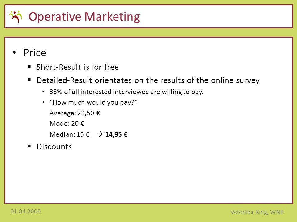 Operative Marketing Price Short-Result is for free