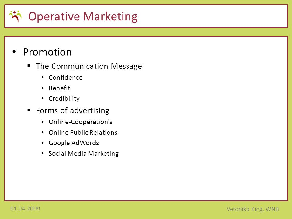 Operative Marketing Promotion The Communication Message