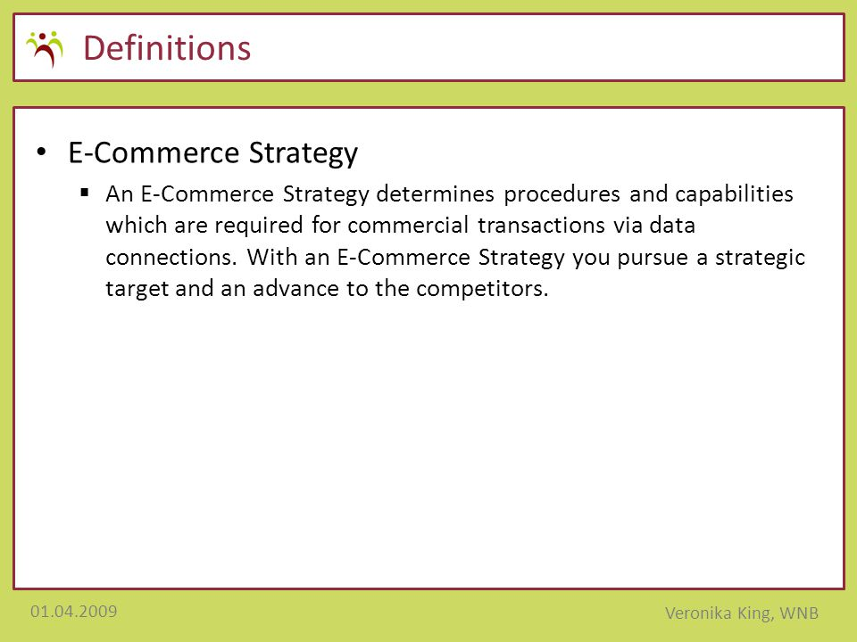Definitions E-Commerce Strategy
