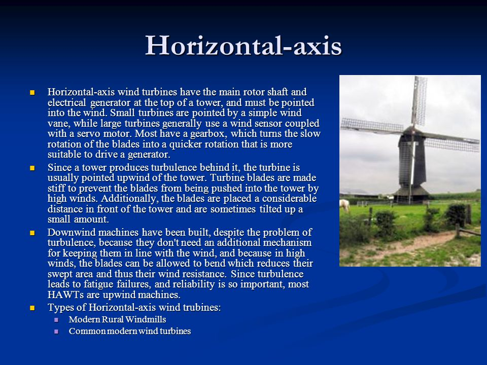 Horizontal-axis
