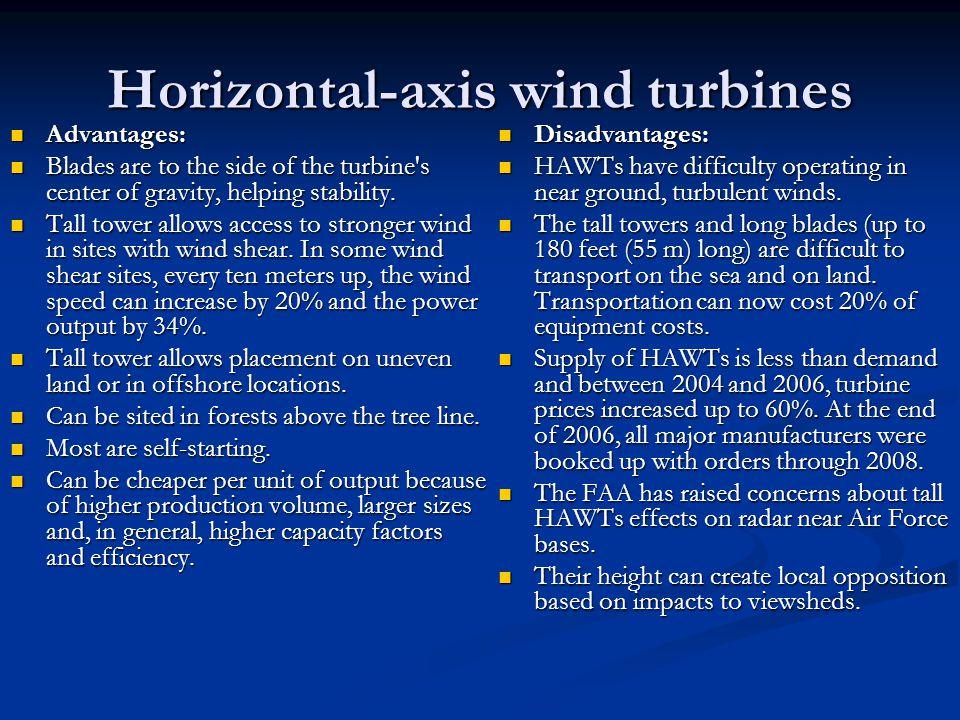 Horizontal-axis wind turbines