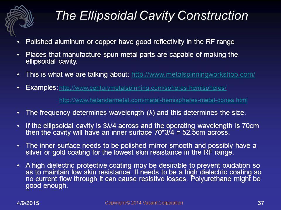 The Ellipsoidal Cavity Construction