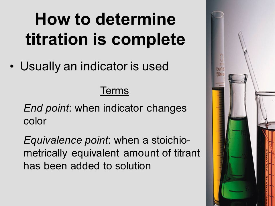 How to determine titration is complete
