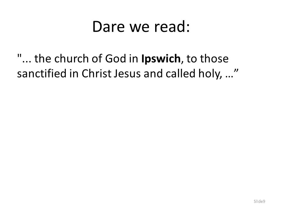 Dare we read: ...