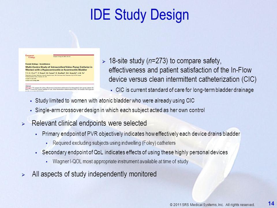 IDE Study Design