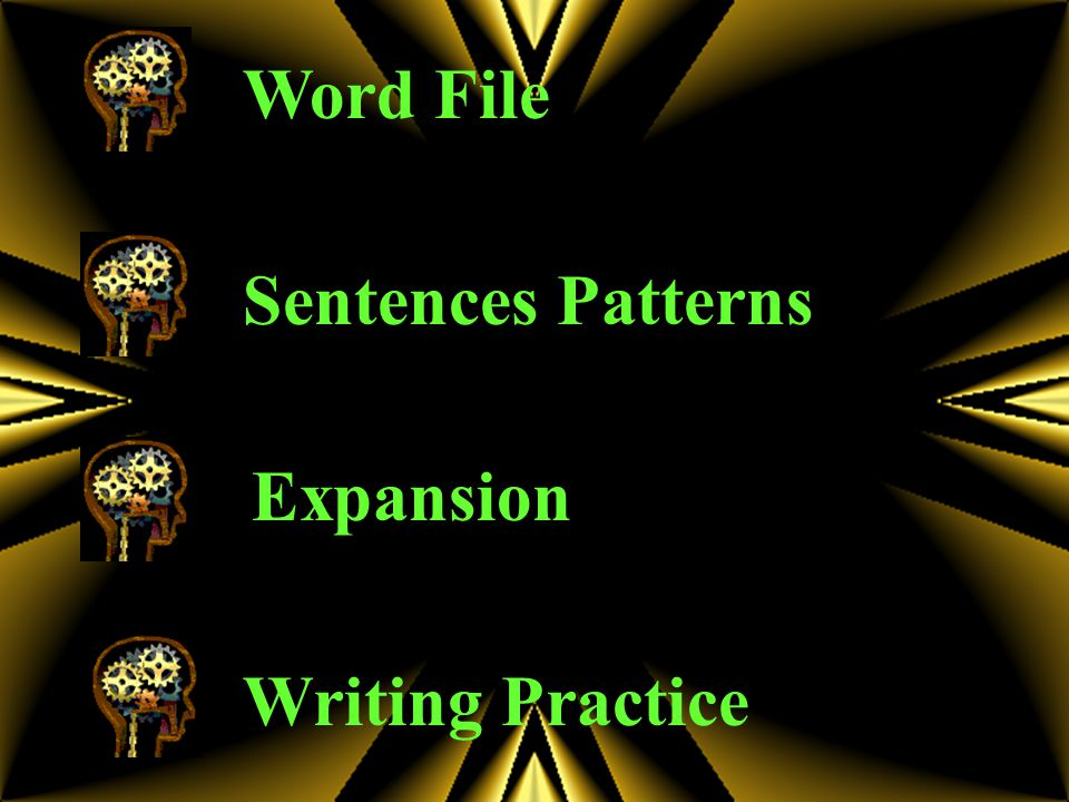 Word File Sentences Patterns Expansion Writing Practice