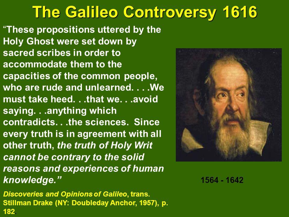 The Galileo Controversy 1616