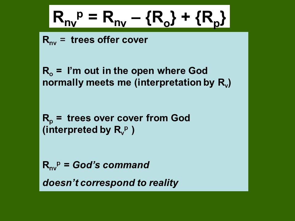 Rnvp = Rnv – {Ro} + {Rp} Rnv = trees offer cover